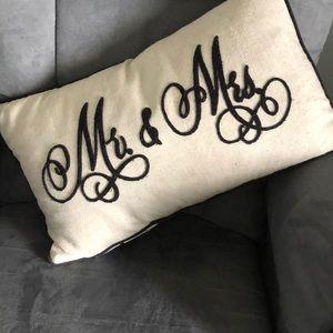 Mr. & Mrs. pillow and bonus pillow